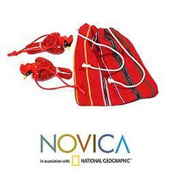 Set of 2 Handmade Ceramic 'Cardinal' Ornaments (Guatemala) - Thumbnail 2