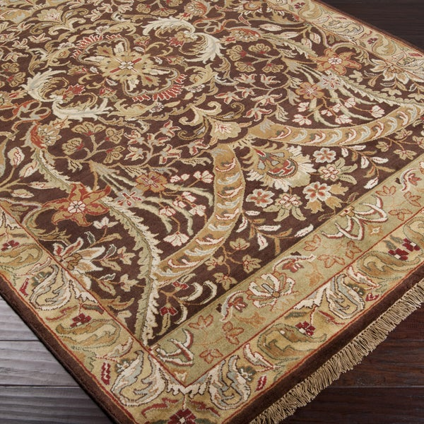 """Hand-Knotted Taj Mahal Semi-Worsted Traditional New Zealand Wool Rug (9'6"""" x 13'6"""")"""