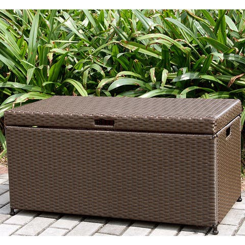 Pensacola Wicker Patio Storage Deck Box by Havenside Home