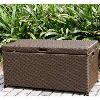 Havenside Home Pensacola Wicker Patio Storage Deck Box
