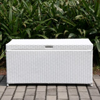 Clay Alder Home Dumbarton Wicker Patio Storage Deck Box (Option: White)