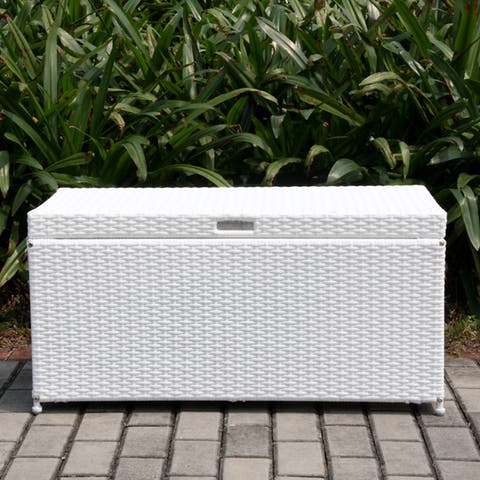 Havenside Home Pensacola Wicker Patio Storage Deck Box