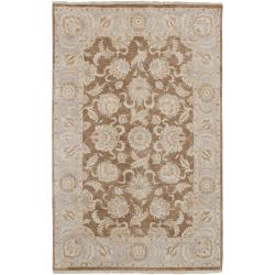 Hand Knotted Robinson New Zealand Hard Twist Wool Area Rug (9' x 13') - Thumbnail 0