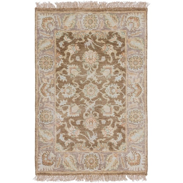 Hand Knotted Robinson New Zealand Hard Twist Wool Area Rug - 2' x 3'
