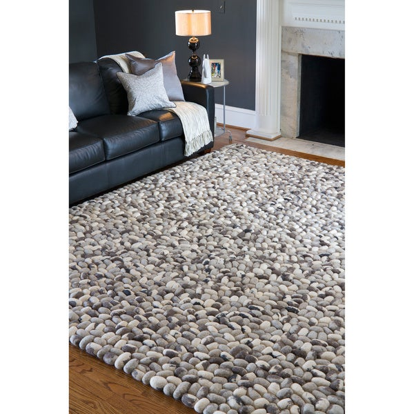 Shop Hand Woven Albie Wool Stone Look Textured Area Rug