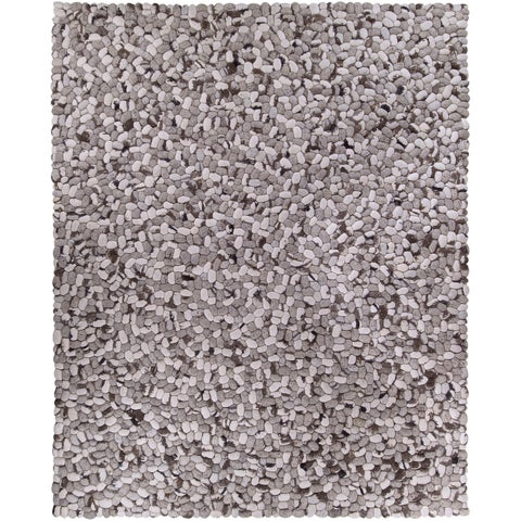 Hand-woven Albie Wool Stone Look Textured Area Rug - 8' x 10'