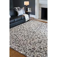 Hand-woven Albie Wool Stone Look Textured Area Rug (8' x 10')