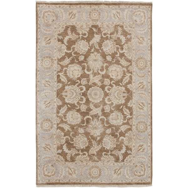 "Hand Knotted Robinson New Zealand Hard Twist Wool Area Rug - 5'6"" x 8'6"""