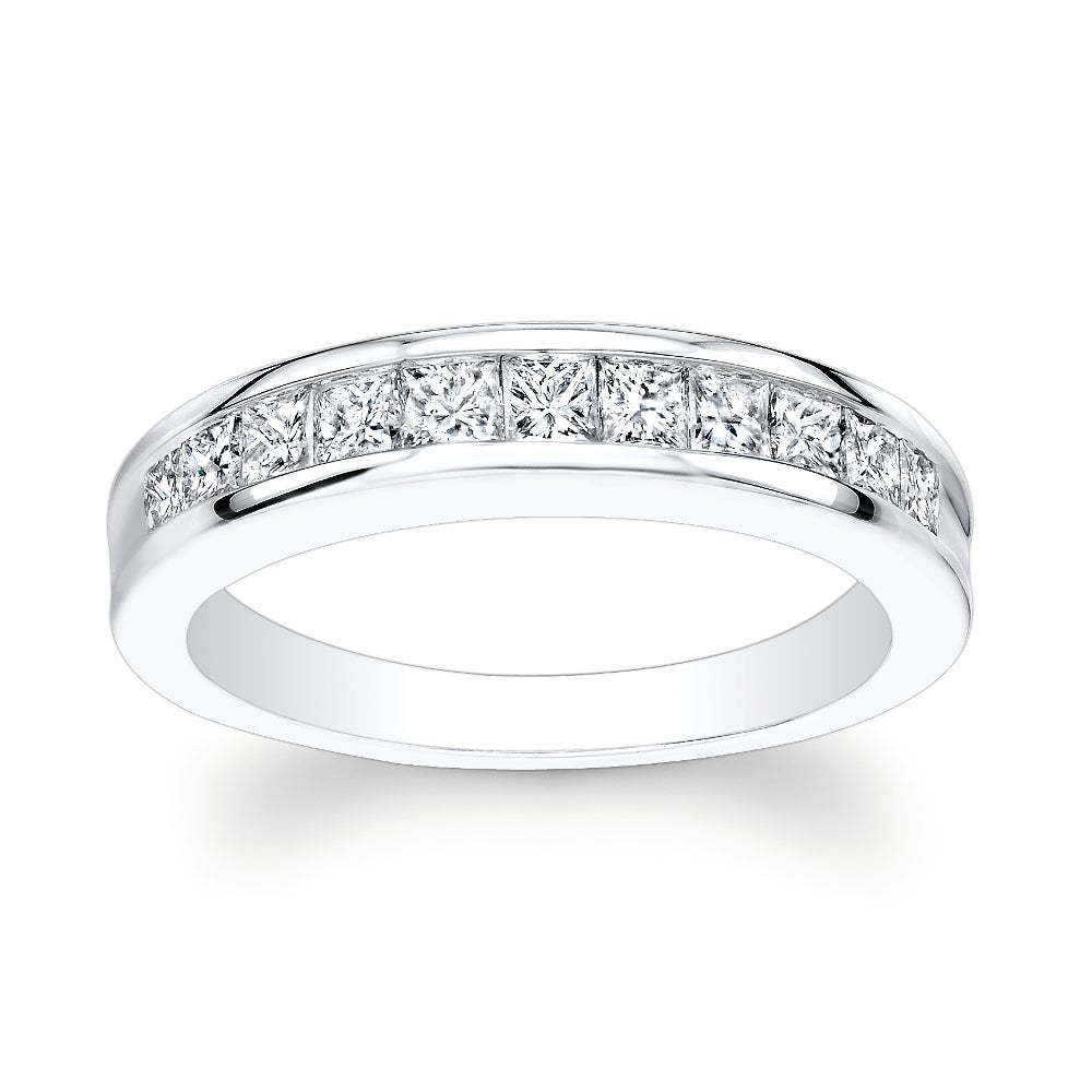 14k White Gold 3/4ct TDW Channel-set Princess Diamond Eternity Band