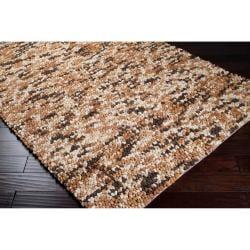 Hand-woven Franklin Wool Plush Shag Rug (8' x 10') - Thumbnail 1