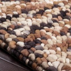 Hand-woven Franklin Wool Plush Shag Rug (8' x 10') - Thumbnail 2
