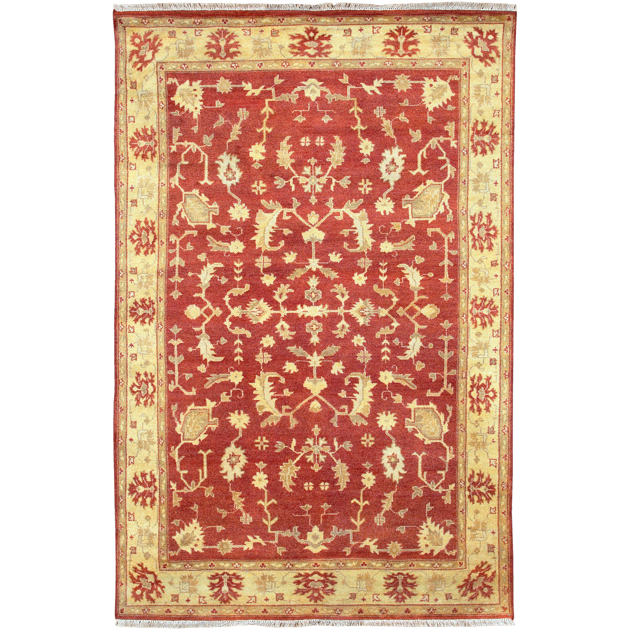 Hand Knotted Antolya Semi-Worsted New Zealand Wool Area Rug (5'6 x 8'6)
