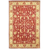 Hand Knotted Antolya Semi-Worsted New Zealand Wool Area Rug - 5'6 x 8'6