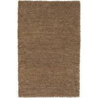 Hand-woven Alessandria Colorful Plush Shag New Zealand Felted Wool Area Rug - 3'6 x 5'6