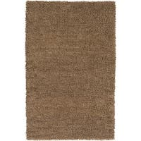 Hand-woven Alessandria Colorful Plush Shag New Zealand Felted Wool Area Rug - 9' x 13'