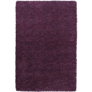 Hand-woven Lucca Colorful Plush Shag New Zealand Felted Wool Rug ( 5' x 8' )