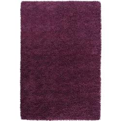 Hand-woven Lucca Colorful Plush Shag New Zealand Felted Wool Area Rug - 8' x 10'6 - Thumbnail 0