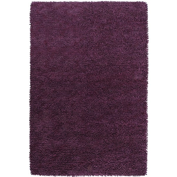 Hand-woven Lucca Colorful Plush Shag New Zealand Felted Wool Area Rug - 8' x 10'6