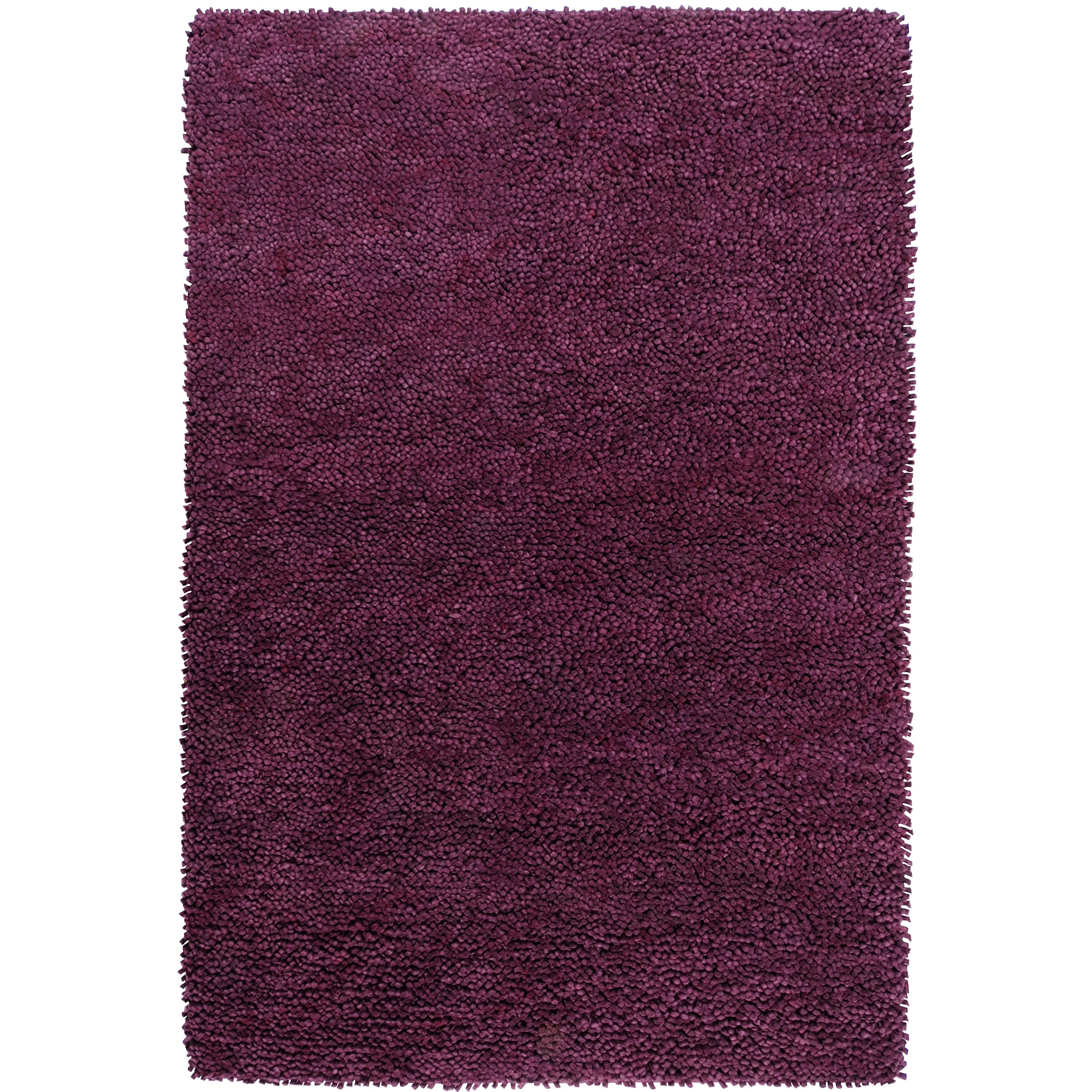 Hand-woven Lucca Colorful Plush Shag New Zealand Felted Wool Rug ( 9' x 13' )