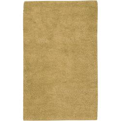 Hand-woven Casoria Colorful Plush Shag New Zealand Felted Wool Area Rug - 8' x 10'6 - Thumbnail 0