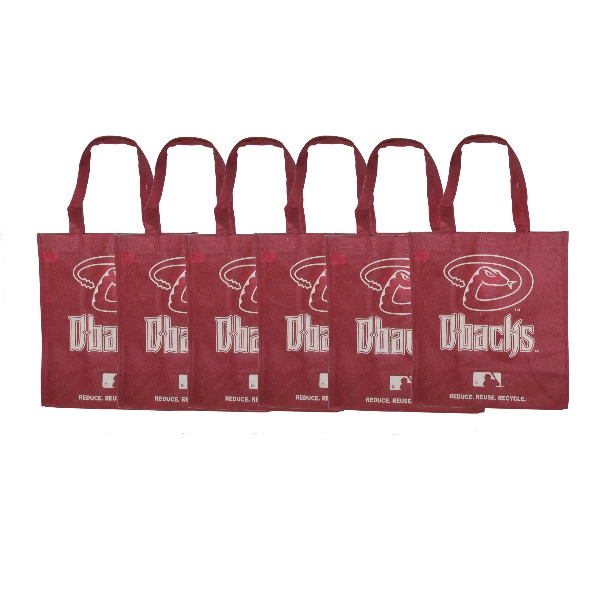 Forever Collectibles MLB Arizona Diamondbacks Reusable Bags (Pack of 6)