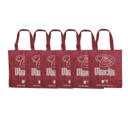 Forever Collectibles MLB Arizona Diamondbacks Reusable Bags (Pack of 6)