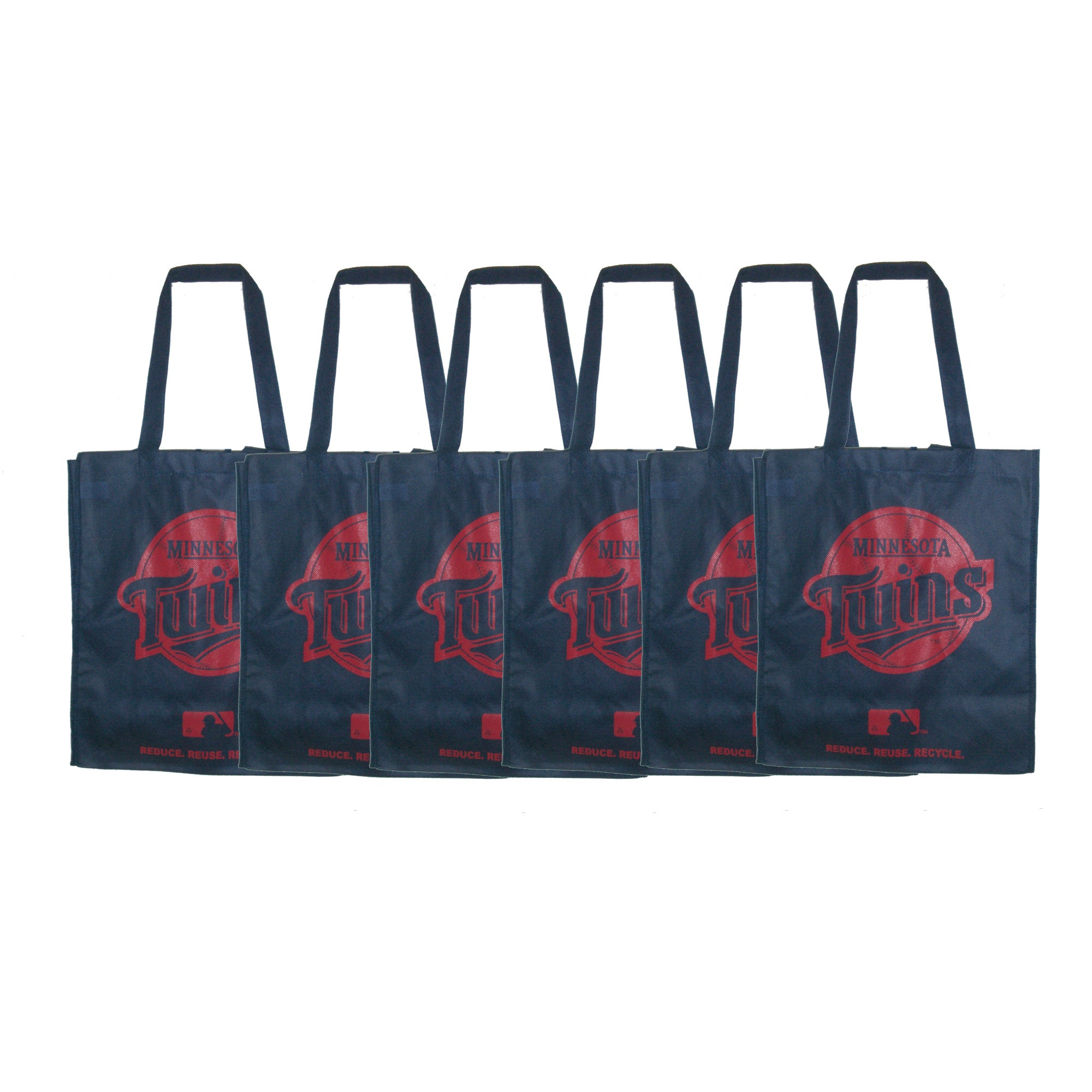Minnesota Twins Reusable Bags (Pack of 6)