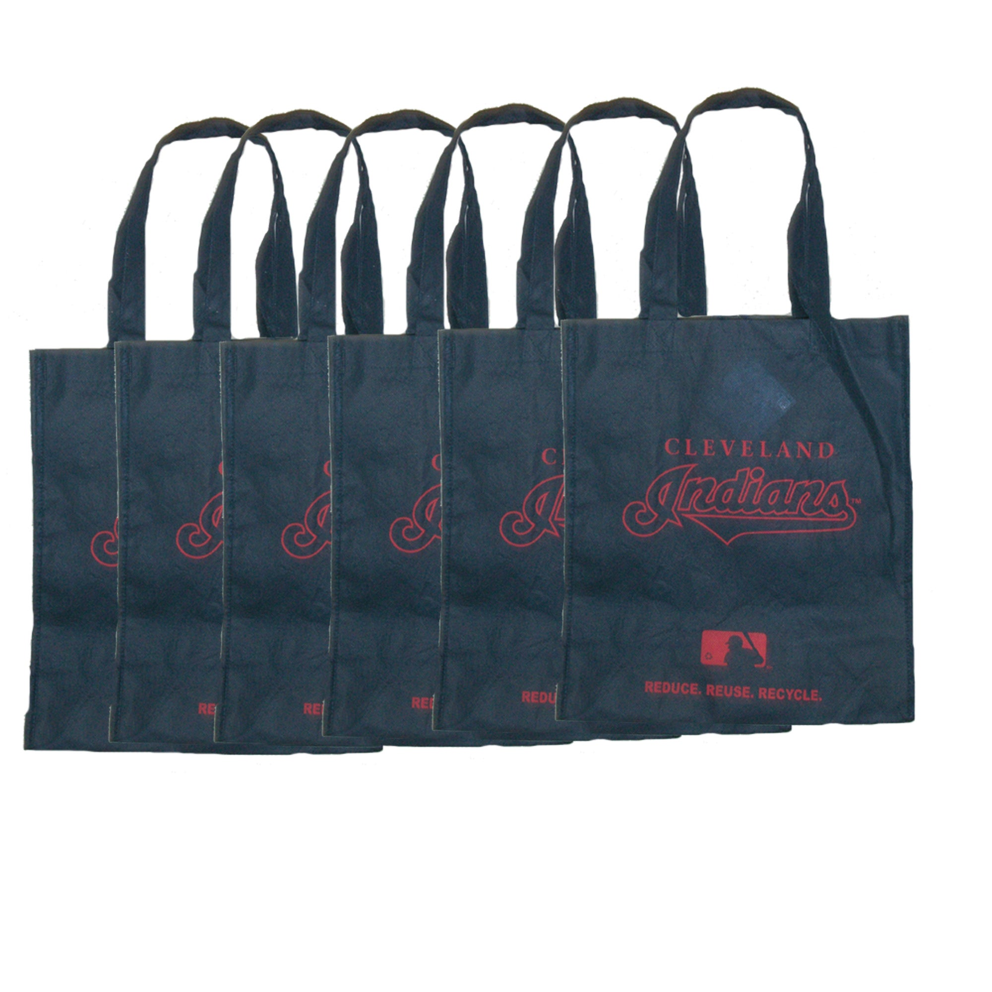 Cleveland Indians Reusable Bags (Pack of 6)