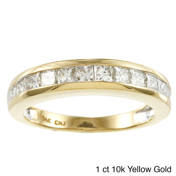 10k or 14k Gold 1/2ct or 1ct TDW Channel-set Round Diamond Band (H-I, I2-I3)