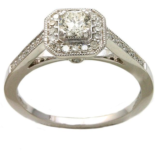 Beverly Hills Charm 14k White Gold 1/2ct TDW Diamond Engagement Ring (H-I, I1)