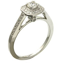Beverly Hills Charm 14k White Gold 1/2ct TDW Diamond Engagement Ring (H-I, I1)