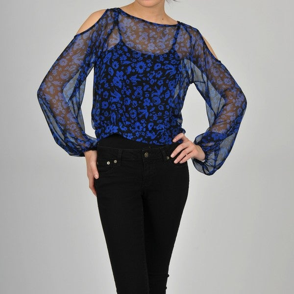 AnnaLee + Hope Women's Floral and Bird Top
