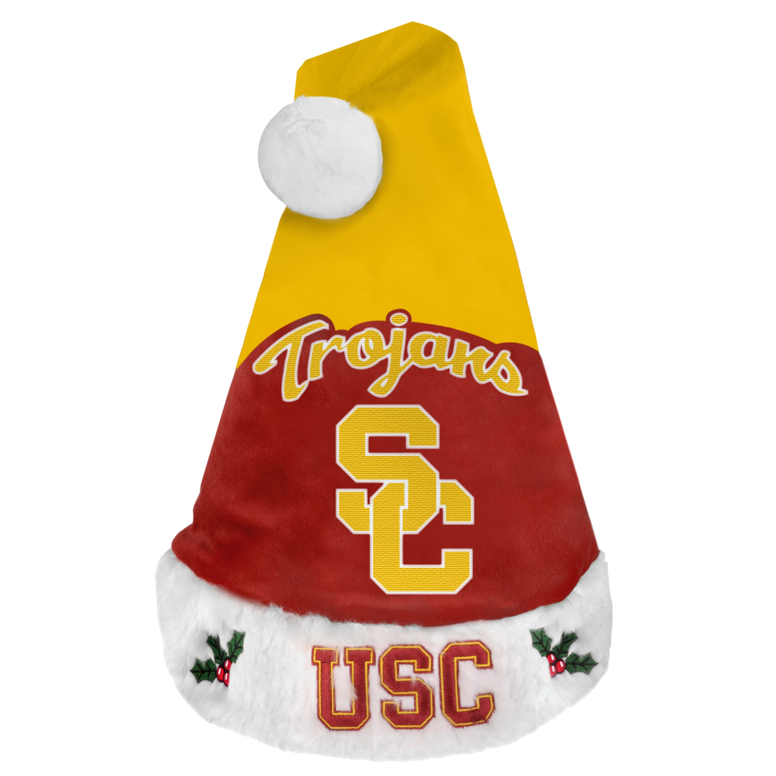 USC Trojans 2011 Colorblock Runoff Logo Santa Hat