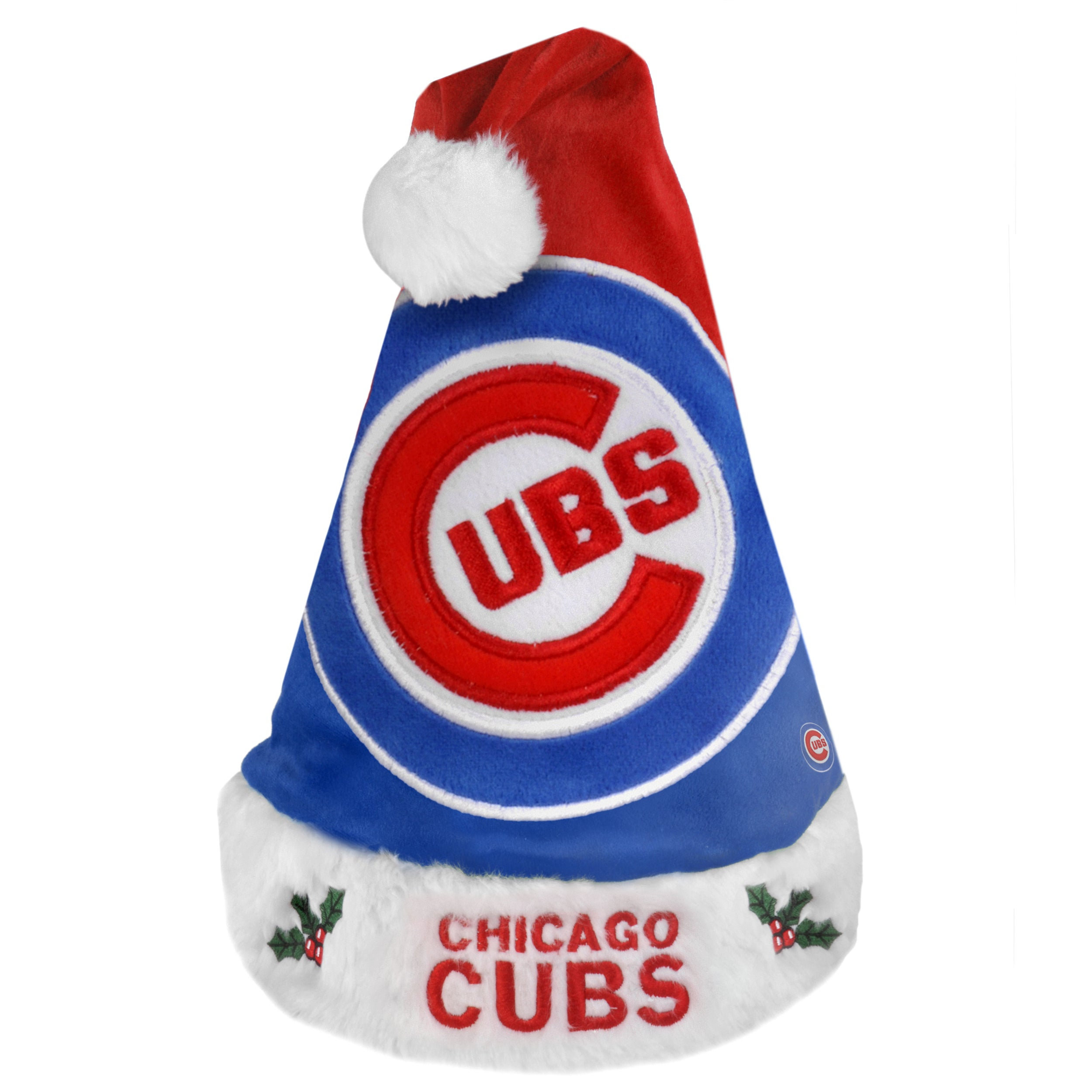 Chicago Cubs 2011 Colorblock Runoff Logo Santa Hat - Thumbnail 0