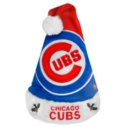 Chicago Cubs 2011 Colorblock Runoff Logo Santa Hat - Thumbnail 0