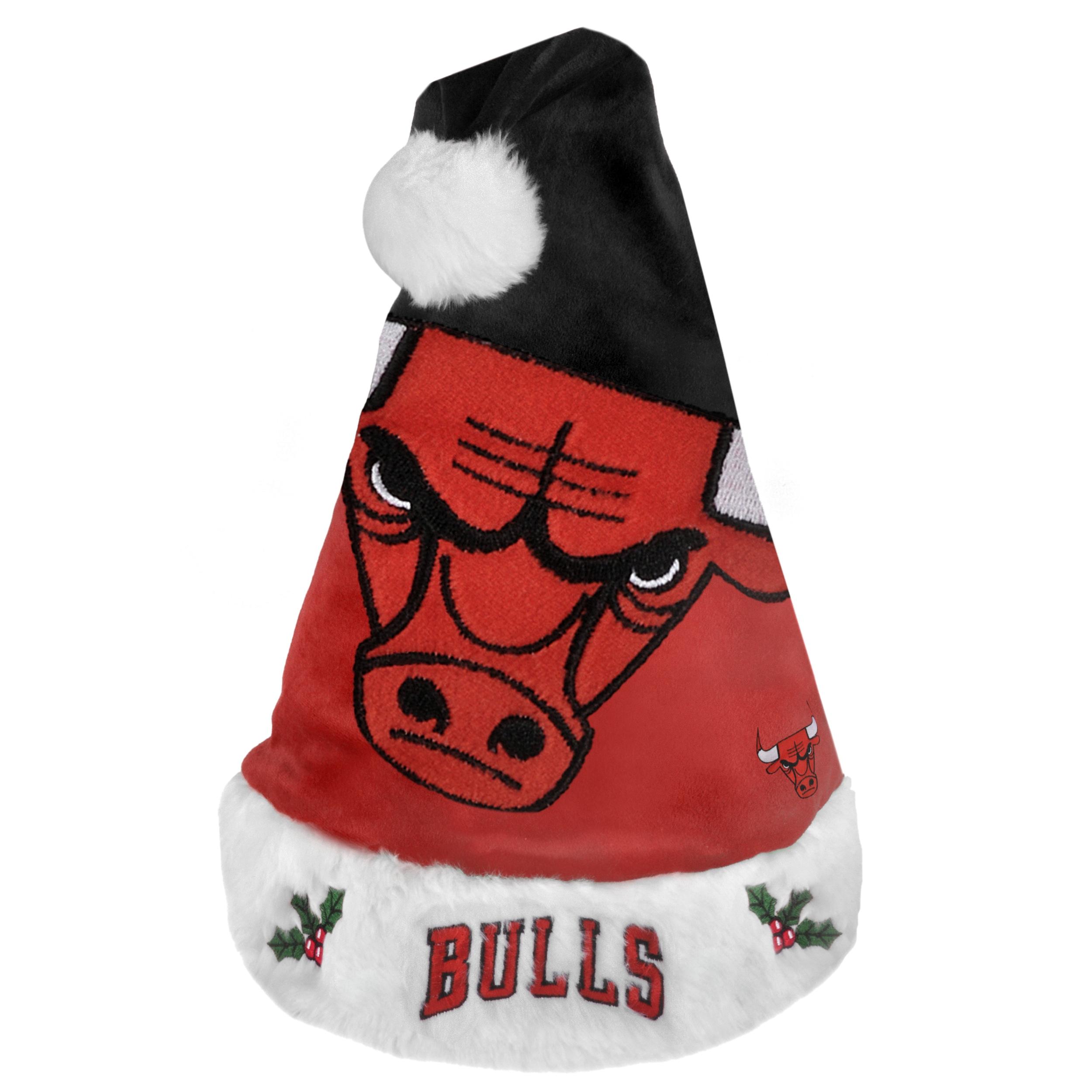 Chicago Bulls 2011 Colorblock Runoff Logo Santa Hat