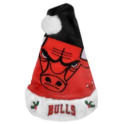 Chicago Bulls 2011 Colorblock Runoff Logo Santa Hat - Thumbnail 0