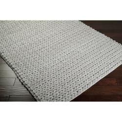 Thumbnail Hand Woven Novara Braided Texture New Zealand Wool Area Rug 8 X27