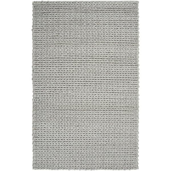 Hand-woven Novara Braided Texture New Zealand Wool Area Rug - 8' X 11'