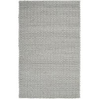 Hand-woven Terni Braided Texture New Zealand Wool Area Rug (5' x 8')