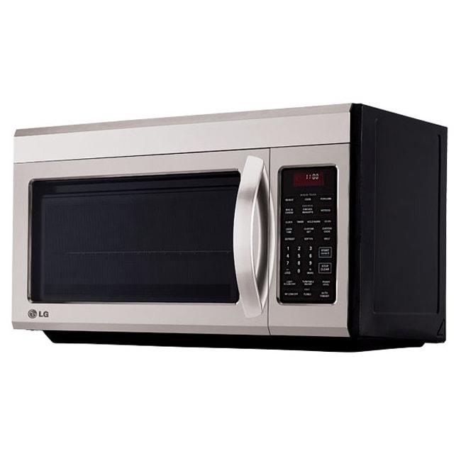 Lg Lmv1813st 1 8 Cu Ft Over The Range Microwave In