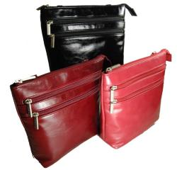 Castello Borsa Faux Leather Top Zip Shoulder Bag