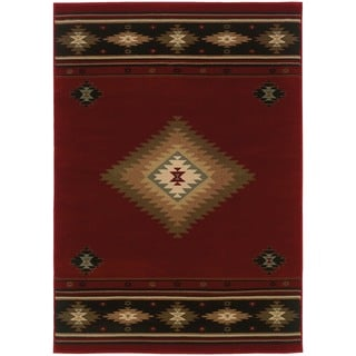 Red/ Green 10' x 13' Traditional Area Rug