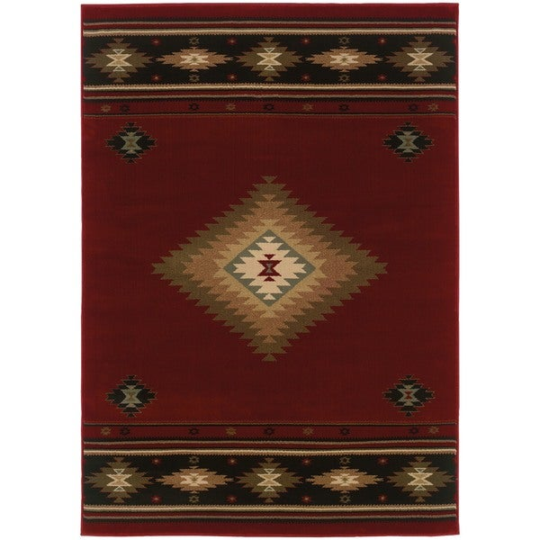 Pine Canopy Allegheny Southwestern Multicolored Area Rug - 10' x 13'