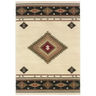 Beige/ Green 10' x 13' Traditional Area Rug