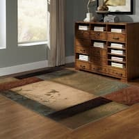Clay Alder Home Percha Beige/ Green Transitional Area Rug - 10' x 13'
