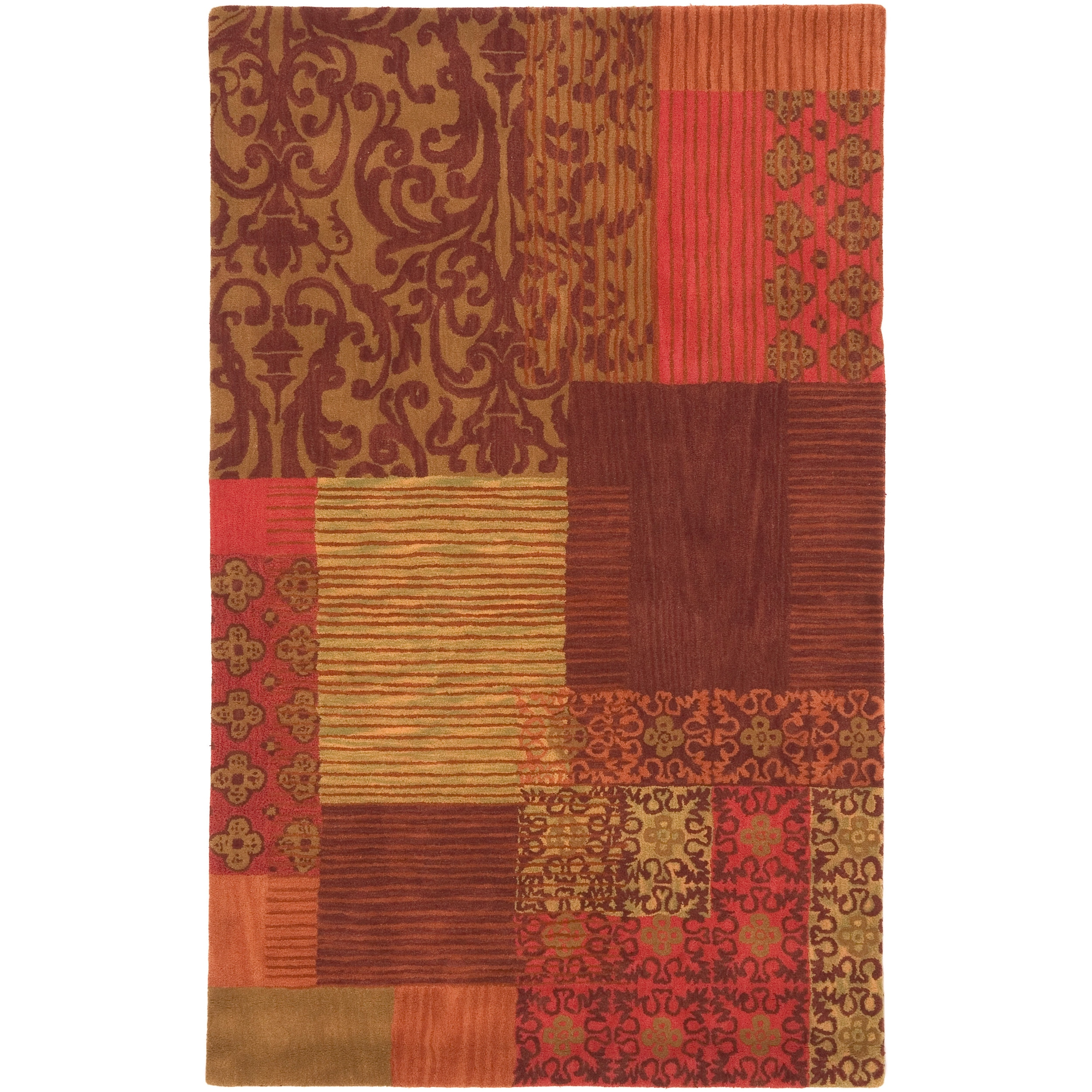 Hand-tufted Quesnel New Zealand Wool Rug (8' x 11')