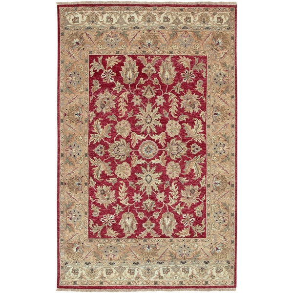 Hand-knotted Timeless New Zealand Hard Twist Wool Area Rug (9' x 13')