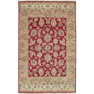 Hand-knotted Timeless New Zealand Hard Twist Wool Rug (2' x 3')