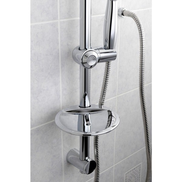 Chrome Sliding Bar With Handheld Shower   Free Shipping Today    Overstock.com   13965984